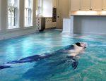 3D наливные полы фото