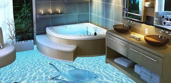 3Д полы фото в ванной – 3D полы в ванной — устройство, примеры, как сделать своими руками