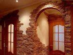 Арка отделанная декоративным камнем фото – оформление прихожей в квартире, как своими руками отделать межкомнатные проемы декоративным кирпичом, как обклеить декоративными плитками, примеры в интерьере