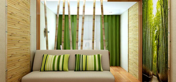 Бамбук на стене – фото в интерьере, обои под бамбук, с рисунком, видео, как клеить на тканевой основе, на что, поклейка