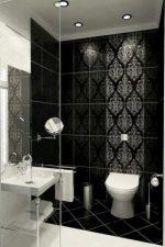Бело черная комната – маленькие помещения с мозаикой в красно-черных тонах, стены и пол душевой с белым цветом в квартирах