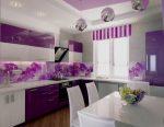 Бело фиолетовая кухня фото – Фиолетовая кухня в интерьере: фото дизайна, сочетание цветов