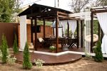 Беседки в ландшафтном дизайне фото – Беседки для дачи — 105 фото красивого дизайна современной беседки для загородного дома