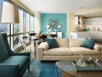 Бежевый цвет стен в интерьере – сочетание темно и светло песочного в гостиной, стены в коричневых тонах, сливочный с другими оттенками, с чем можно синий и розовый