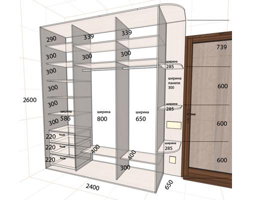 чертеж схема шкаф купе шкаф купе своими руками изготовление