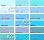 Цвет бирюзово голубой