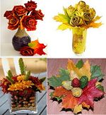 Цветы из осенних листьев своими руками – Осенние поделки из сухих цветов и цветы из кленовых листьев своими руками