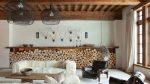 Дерево и камень в интерьере загородного дома – использование натуральной деревянной стены в современном стиле, оформление и дизайн своими руками