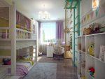 Детская комната 12 кв м для двоих – Детская комната для двоих детей: фото, варианты планировки, стили