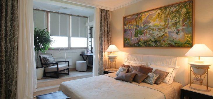 Дизайн балкон спальня