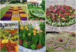 Дизайн цветочных клумб своими руками фото