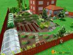 Дизайн дачного участка 12 соток фото с огородом – Планировка участка 12 соток и 6 соток: как следует размещать основные и хозяйственные постройки, зоны отдыха, огород и сад
