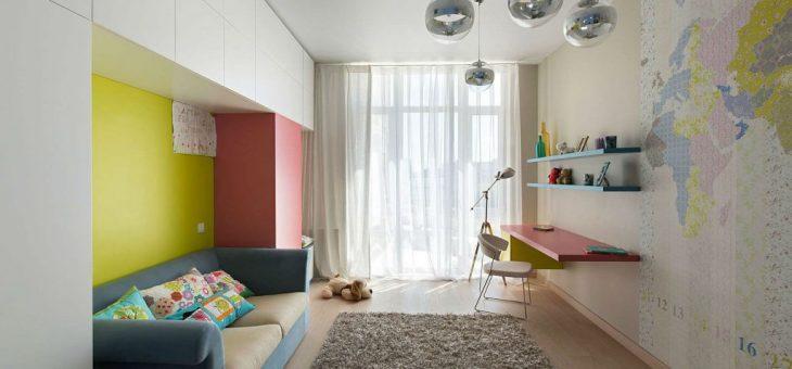 Дизайн детской для узкой комнаты для мальчика