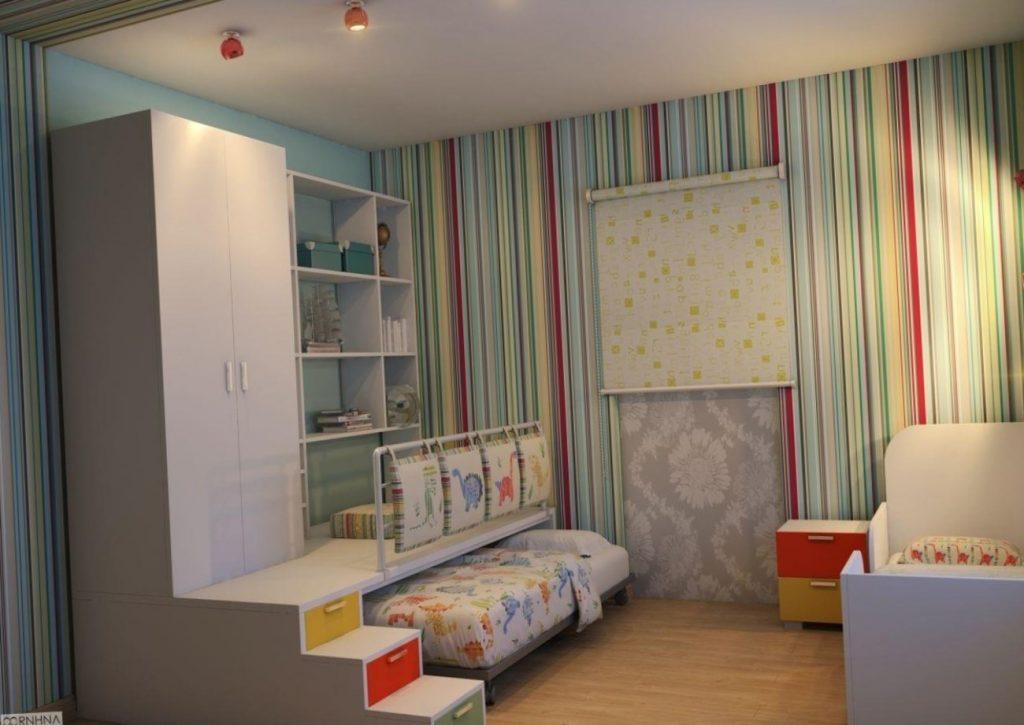 дизайн детской комнаты для мальчика 14 кв м фото интерьер и фото