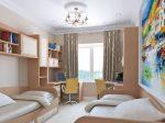 Дизайн для детской комнаты для двоих мальчиков – дизайн комнаты, для подростков разного возраста, мебель в интерьере, проект кровати, оформление маленькой планировки