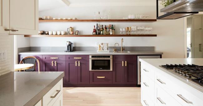 Дизайн фиолетовой кухни фото – Фиолетовая кухня [100+ фото] ❤ Дизайн, обои и плитка в фиолетовом цвете