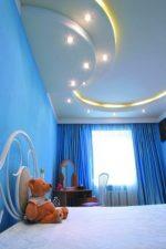 Дизайн фото потолков из гипсокартона двухуровневых – дизайн двухъярусных гипсокартонных потолков для спальни, прямоугольные двухуровневые конструкции в прихожей