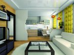 Дизайн гостиной и кухни с перегородкой – фото, раздвижная из гипсокартона, декоративная стеклянная, как отделить