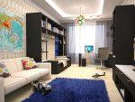 Дизайн комнаты для мальчика 18 кв м