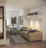 Дизайн кухни гостиной 14 кв м фото с зонированием
