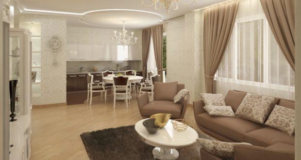 Дизайн кухни гостиной в классическом стиле фото – кухни столовой, кухни студии, совмещенной со столовой, гостиной с эркером, в классическом стиле, картинки, фото