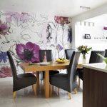 Дизайн кухни с обоями 3д фото – 3D фотообои на кухни — интересные идеи (54 фото): дизайн стереоскопических моделей с орхидеей на стену в интерьере