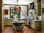 Дизайн кухни в стиле прованс в загородном доме фото