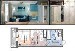 Дизайн квартиры 22 кв м – квартира-студия 22 кв.м. — планировка квартиры 23 квадратных метра — запись пользователя Анна (Anchytka83) в сообществе Дизайн интерьера в категории Вопросы и ответы