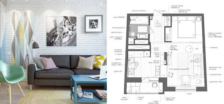 Дизайн квартиры студии 45 кв м фото с кухней – Скандинавский стиль в однокомнатной квартире 45 кв.м. за минимальный бюджет в Москве