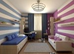 Дизайн проект детской комнаты для мальчика и девочки – дизайн фото, вместе, двухъярусная кровать, оформление зонирования, идеи мебели для подростков, интерьер