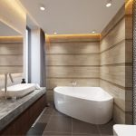 Дизайн с угловой ванной фото