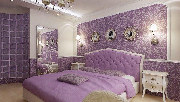Дизайн сиреневая комната – дизайн в бело-фиолетовых и бело-сиреневых тонах, дизайн интерьера в желто-фиолетовом цвете