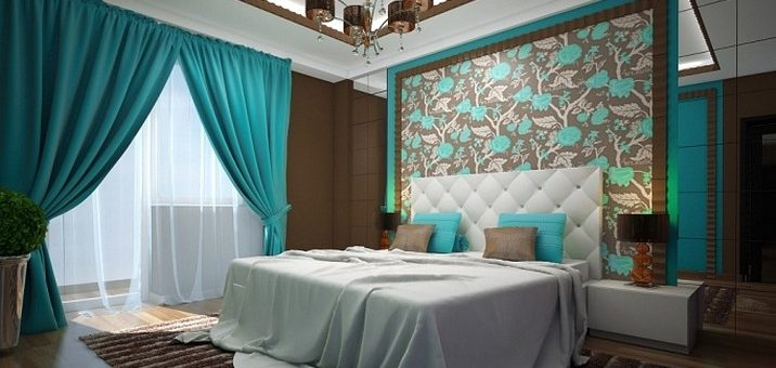 Дизайн спальни фото в бирюзовом цвете – дизайн интерьера в шоколадных, бирюзово-коричневых и бирюзово-зеленых тонах