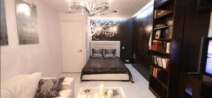 Дизайн спальни совмещенной с гостиной 18 кв м фото – Дизайн гостиной совмещенной со спальней (42 фото): экспериментируем с цветовыми решениями