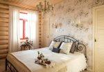 Дизайн спальни в кантри стиле – фото дизайна интерьера, маленькая в деревянном доме, видео как своими руками