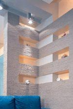 Дизайн стен из гипсокартона – гипсокартон в интерьере квартиры, колонны и другие оригинальные идеи для спальни и для гостиной, отделка под кирпич