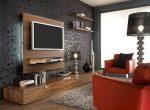 Дизайн стены под телевизор в гостиной – Оформление стены под телевизор в гостиной фото: дизайн зала и высота, как оформить интерьер и правильно повесить ТВ