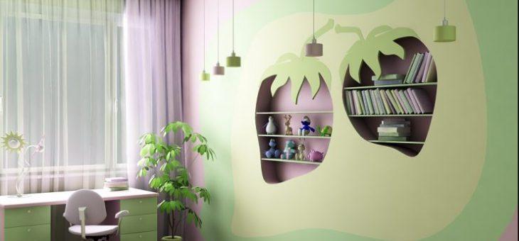 Дизайн стены в детской комнате – Стены в детской комнате — 85 фото лучших дизайнерских решений в современном стиле