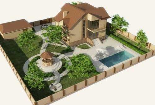 Дизайн участка 4 сотки с домом – Ландшафтный дизайн дачного участка 5 соток своими руками — фото с домом 4 соткиЖенские радости