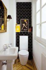 Дизайн в туалете кафель – бюджетный вариант дизайна и идеи-2018 оформления, сравнение до и после ремонта и отделки кафелем, как положить своими руками