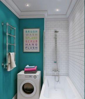 Дизайн ванной комнаты с ванной и стиральной машиной – гармоничный интерьер со стиральной машиной, варианты ремонта для совмещенного санузла, расположение унитаза