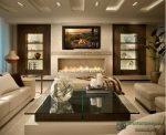 Дизайн зала 18 кв м с камином в квартире фото