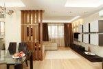 Двухкомнатная квартира 40 кв м планировка – современные проекты-(Y) с зонированием для двухуровневого помещения размером 40 квадратных метров
