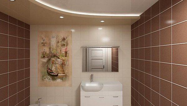 Двухуровневый потолок в ванной – Как смотрится двухуровневый натяжной потолок в ванной. Двухуровневый потолок в ванной