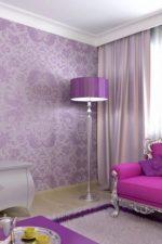Фиолетовый с какими цветами сочетается в интерьере – для стен в интерьере, фото, цвета, с каким сочетаются, тона, бледно сиреневые с цветами, какой цвет дивана подойдет, видео