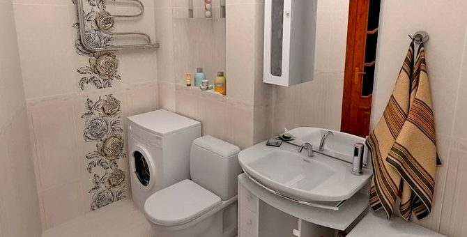 Фото дизайн маленькой ванной совмещенной с туалетом