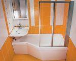 Фото душевая кабина в маленькой ванной