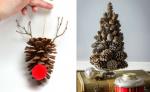 Фото композиция из шишек – Идеи новогодних украшений и поделок из шишек своими руками на Новый год 2019 Фото