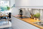 Фото кухни со скинали – фото и советы по выбору фартука скинали из стекла, установка своими руками