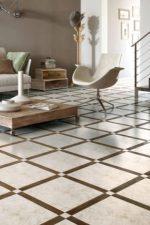 Фото плитка с рисунком на пол – напольная плитка с геометрическим узором и орнаментом, керамические узорные изделия в интерьере
